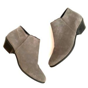 Crown Vintage Gray Suede Boho Ankle Booties 11